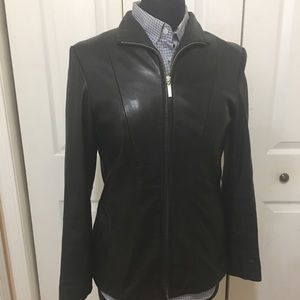 New York & Company soft gloved leather coat